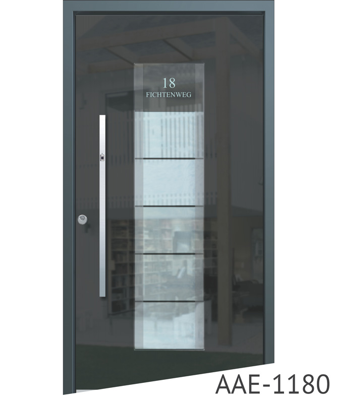 Dark grey aluminium doors