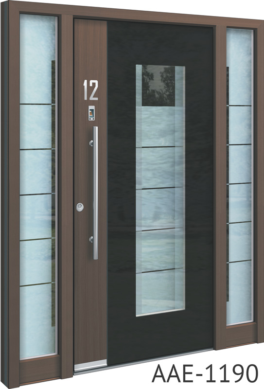 Brown entrance doors