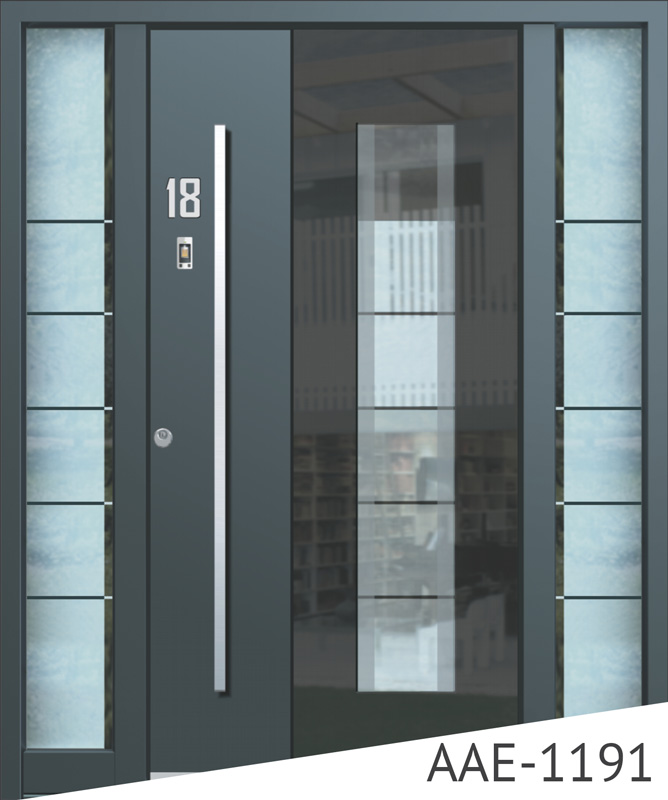 Dark grey aluminium door