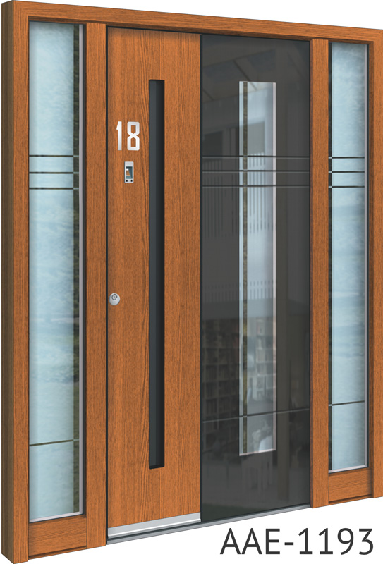 Light brown entrance doors
