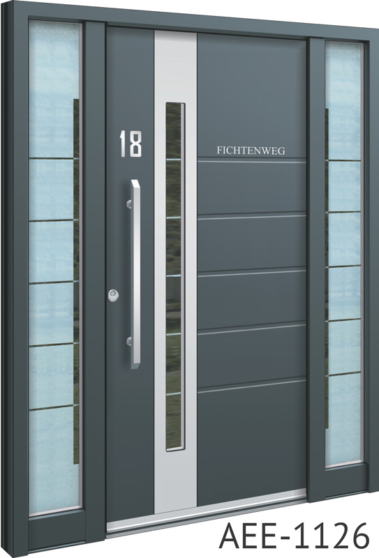 Grey contemporary front doors