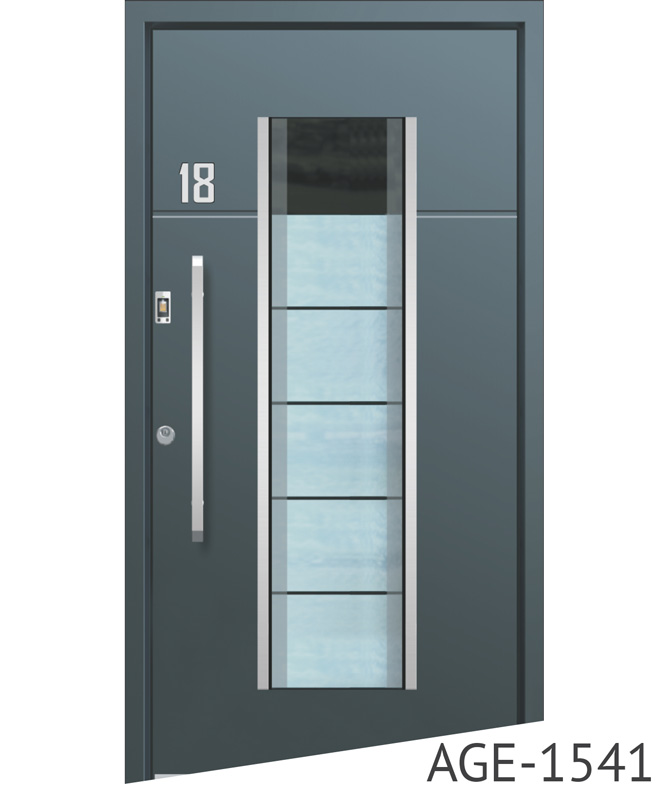 Anthracite contemporary aluminium door