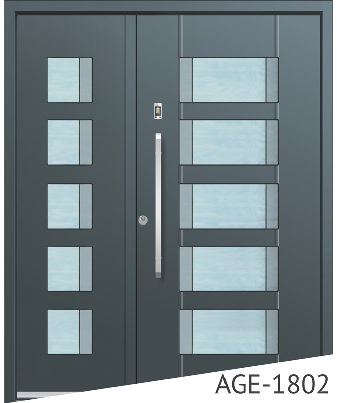 Anthracite aluminium front entrance doors