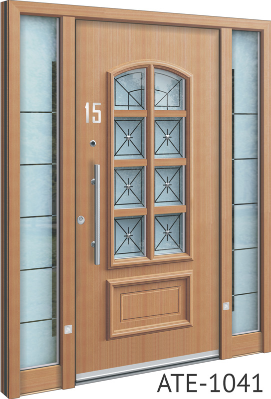 Light tan bespoke front doors