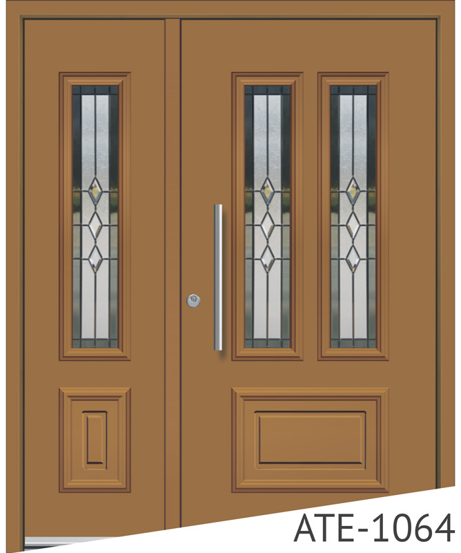 Light tan aluminium front entry doors