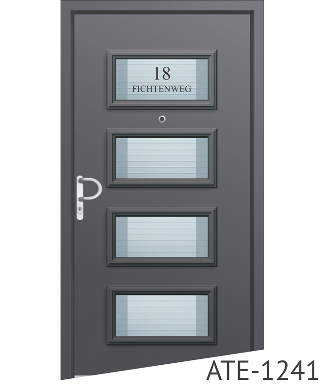 Light grey aluminium entrance door