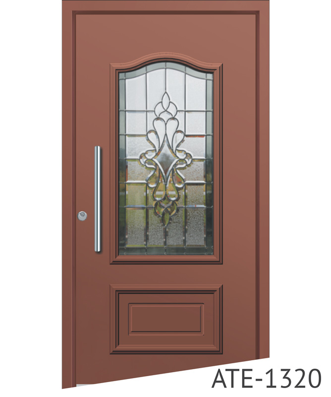 Brown bespoke entrance door