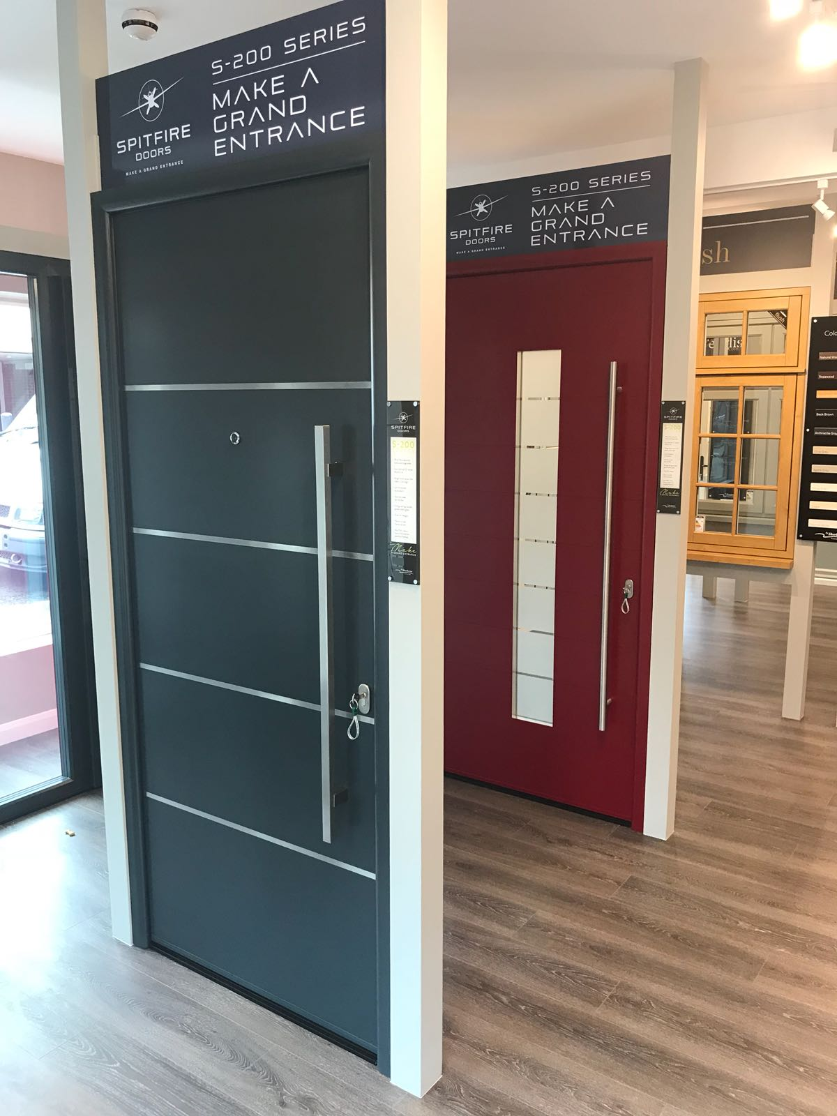 Spitfire Doors on display in Farnborough showroom